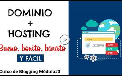 Cómo crear un dominio y un hosting-Bonito😀, bueno👍 + regalo🎁 – Curso para CREAR UN BLOG #3