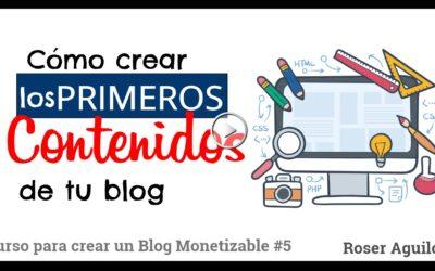 Los primeros contenidos y categorías para tu blog – Curso para CREAR UN BLOG #5